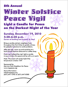 8th Annual Winter Solstice Peace Vigil